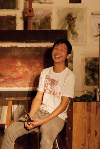 Kelvin Lim in the studio
